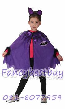 ชุดฮาโลวีน ชุดค้างคาวน้อยแสนสน สำหรับงานแฟนซี วันฮาโลวีน Little Bat ขนาด S, M
