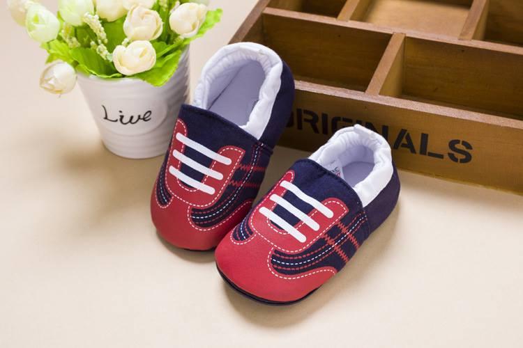 รองเท้าเด็กอ่อน 0-12เดือน รองเท้าเด็กชาย เด็กหญิง สีกรมลายรองเท้า