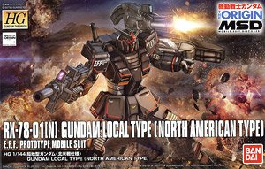 HG Origin 1/144 Gundam Local Type (North America Federation) 2160yen