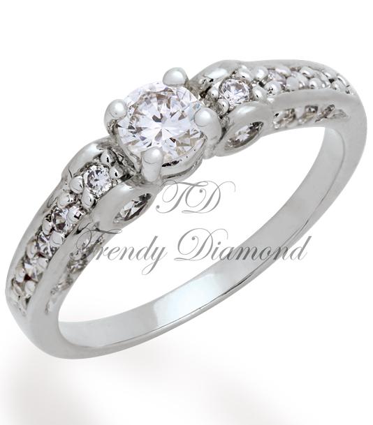 แหวนเพชร Victoria สีทองคำขาว