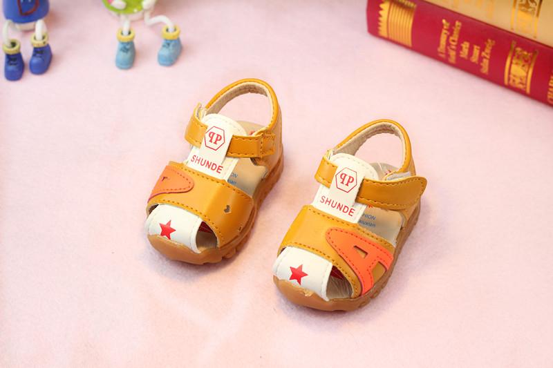 รองเท้าเด็กอ่อน 0-12เดือน รองเท้าเด็กชาย เด็กหญิง สีส้มน้ำตาล