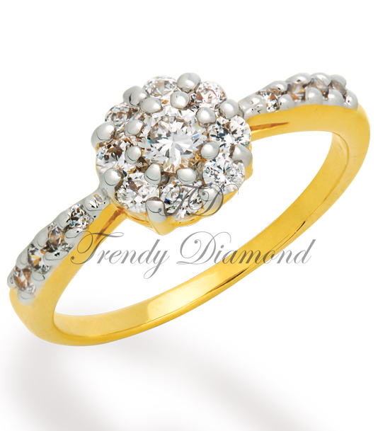 แหวนเพชร Lotus สีทอง