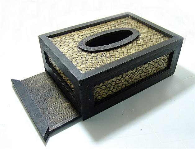 กล่องทิชชู หวายสาน