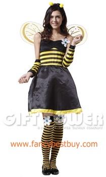 ชุดแฟนซีผู้หญิง ชุดผึ้ง Pretty Bee Costume ขนาดฟรีไซด์