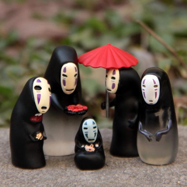 โมเดลผีไร้หน้า DIY (No face) spirited away มิติ วิญญาณ มหัศจรรย์ 5 ตัว/ชุด