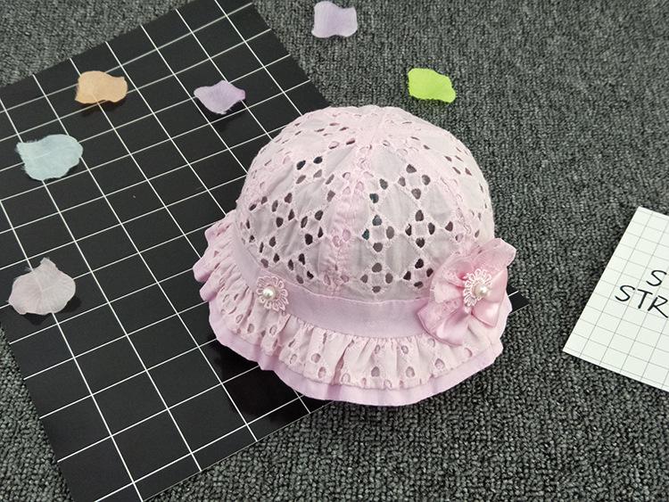 หมวกปีกเด็กผู้หญิงผ้าฉลุ ปีกละบายตกแต่งด้วยโบและมุข สีชมพูอ่อนสำหรับเด็ก6เดือนถึง1ปี น่ารักมากๆค่ะ