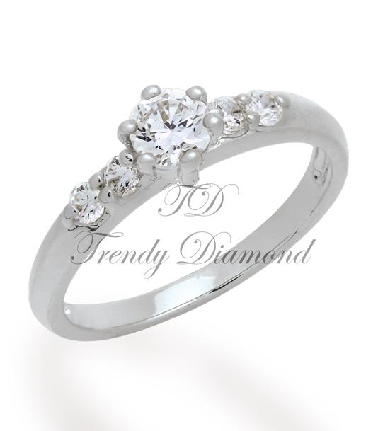แหวนเพชรซาร่า สีทองคำขาว