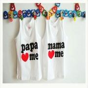 เสื้อกล้ามแพ็ค คู่ Papa Mama