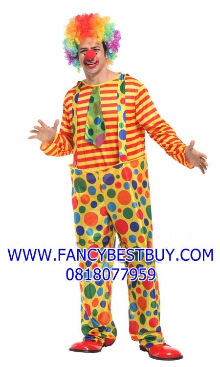 ชุดแฟนซีผู้ใหญ่ ชุดตัวตลก CLOWN Costume