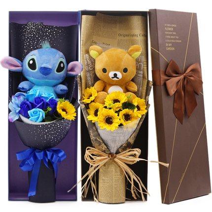 ช่อดอกไม้ตุ๊กตาการ์ตูน (มีให้เลือกหลายแบบ)