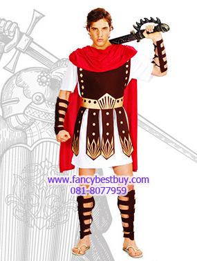 ชุดแฟนซีชุดนักรบโรมันหรือชุดนักรับกรีก รุ่นนี้มีปลอกแขนและขาอย่างละคู่ ไม่รวมดาบ ขนาดฟรีไซด์