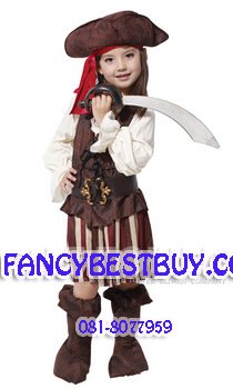 ชุดแฟนซีเด็ก สาวน้อยโจรสลัดสุดสวย Pretty Pirate Girl มี ขนาด M, L, XL