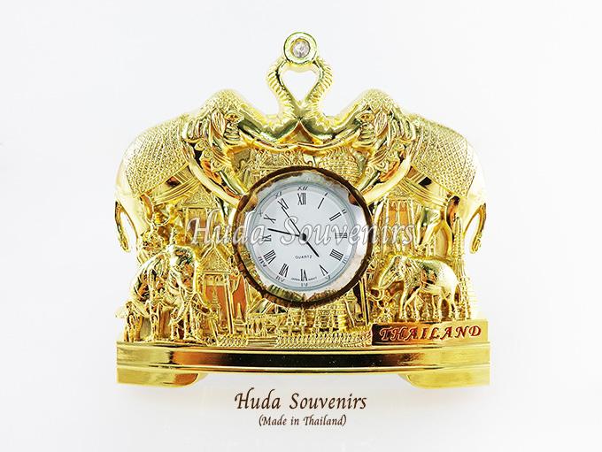 ของที่ระลึก นาฬิกาพรีเมี่ยม ลวดลายช้างชูงวงหันหน้าชนกัน ปั้มลายเนื้อนูน สินค้าบรรจุในกล่องมาให้เรียบร้อย สินค้าพร้อมส่ง