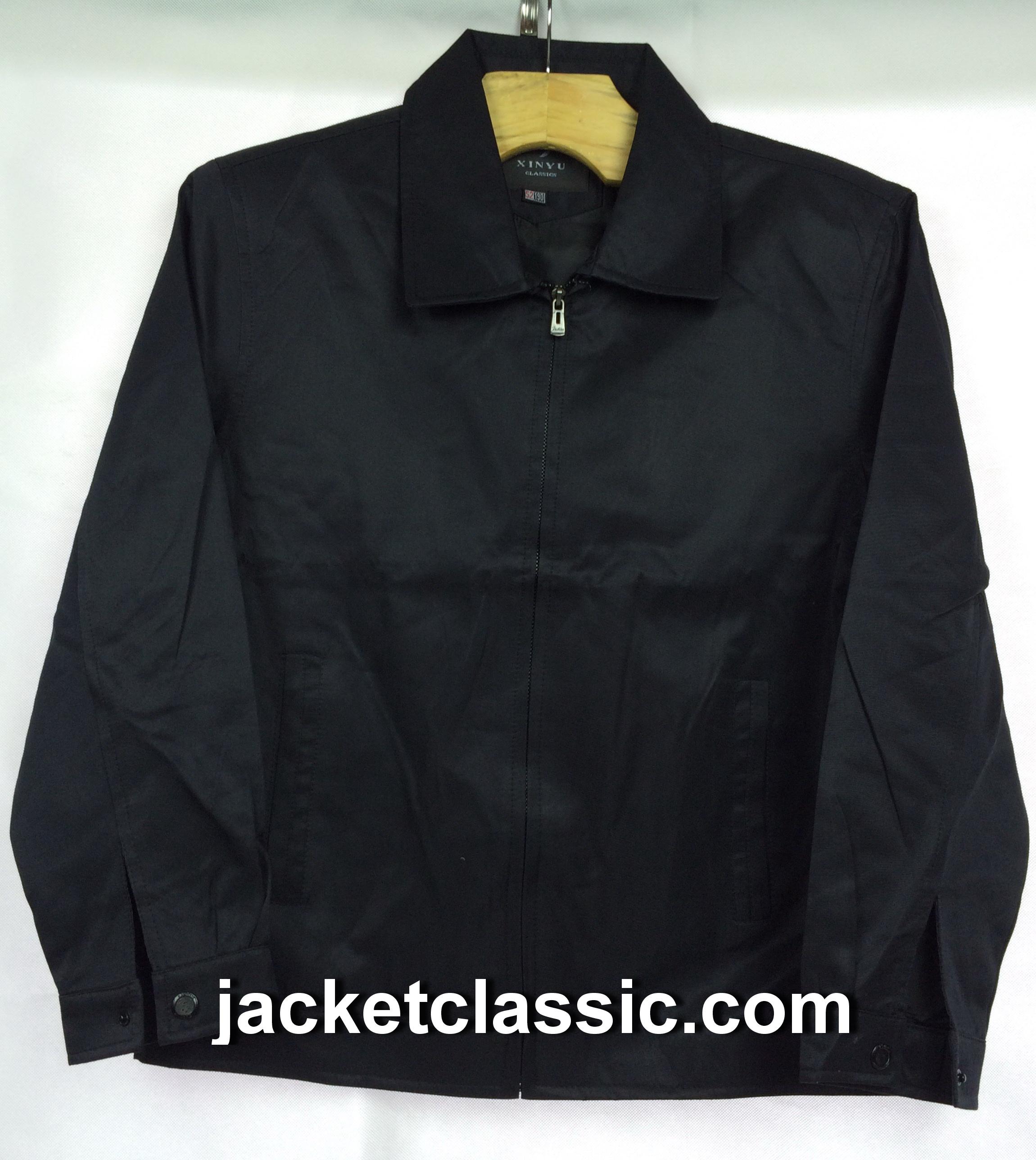 เสื้อแจ็กเก็ต xinyu คอปกสีดำ ส่งฟรี