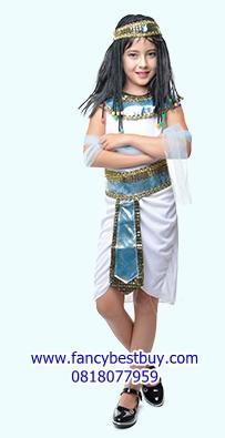 ชุดประจำชาติอียิปต์ เจ้าหญิงอียิปต์ ขนาดฟรีไซด์ สำหรับความสูง 110-140 ซม. สำเนา