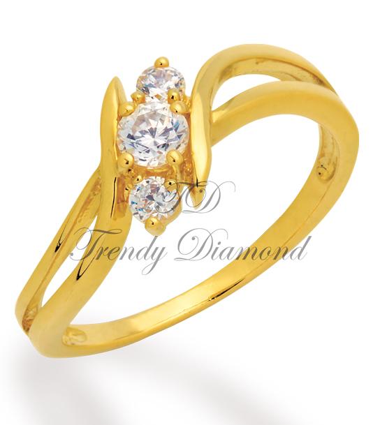 แหวนเพชร Space สีทอง