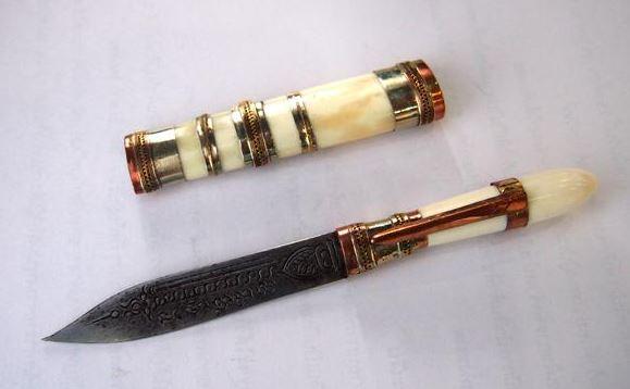 มีดปากกาหลวงพ่อเดิม ด้ามงาฝักงา