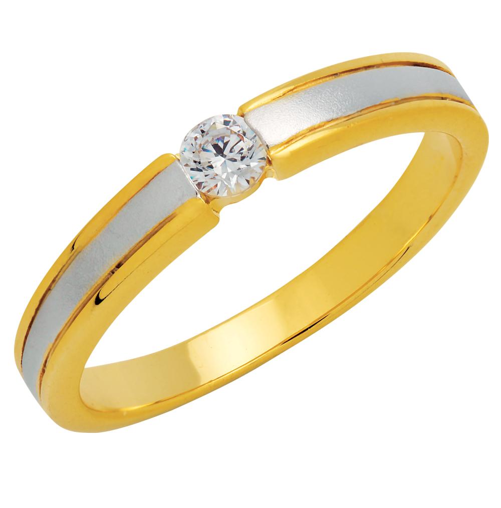 แหวนเพชรCZ เพชรสวิส พ่นทราย สีทองและสีทองคำขาว