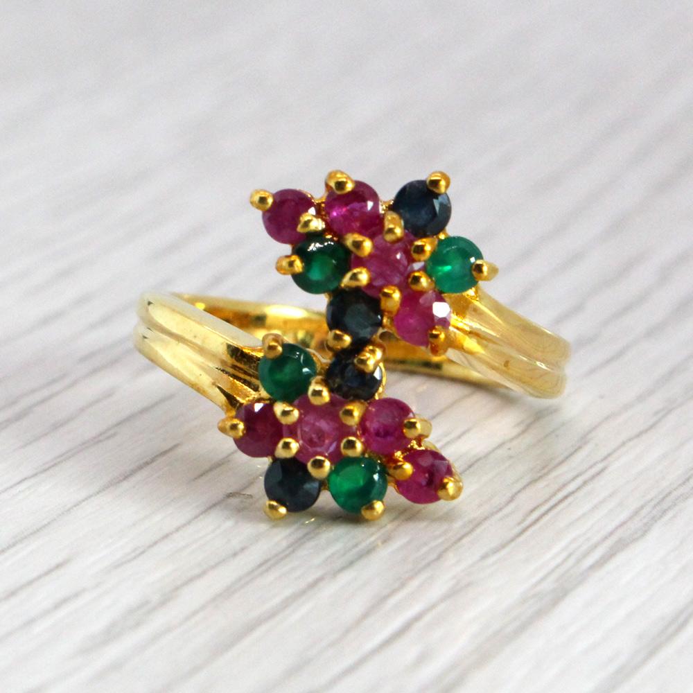 แหวนพลอยแท้ หุ้มทองคำแท้ ไซส์ 53