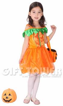 ชุดเจ้าหญิงฟักทองแฟนซีเด็ก Pumpkin Pricess สำหรับวันฮาโลวีน ขนาด M, L, XL (รุ่นนี้ขนาดค่อนข้างเล็ก เลือกขนาดเพิ่ม 1 เบอร์จากตาราง)
