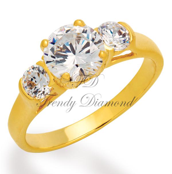แหวนเพชร Big Lock สีทอง