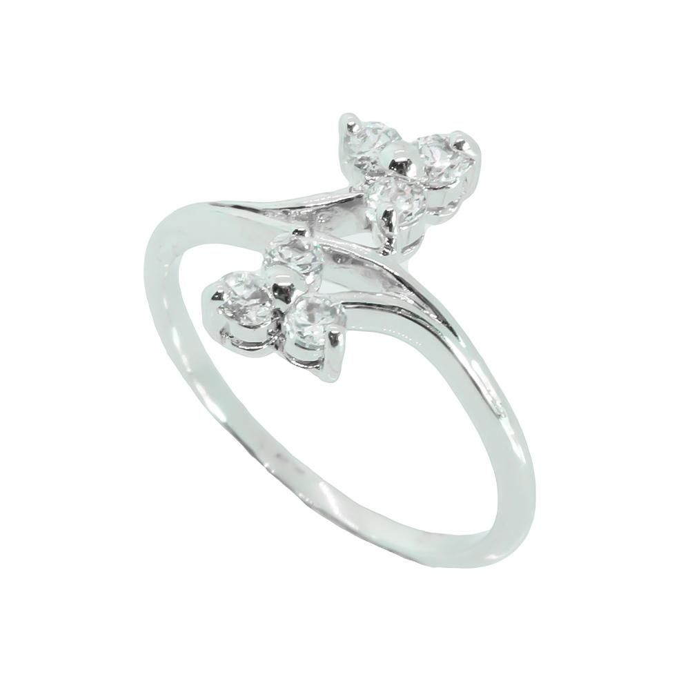 แหวนเพชรCZ หุ้มทองคำขาวแท้ ไซส์ 53