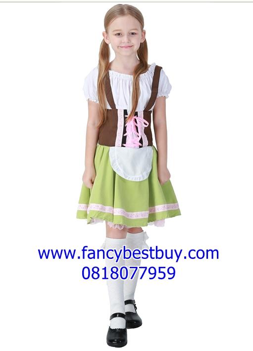 ชุดแฟนซี ชุดประจำชาติเยอรมันนี ชุดประจำชาติสวิตเซอร์แลนด์ Germany and Switzerland costume สำหรับแฟนซีเด็กหญิง ขนาด S, M, L, XL