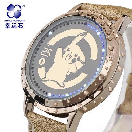 นาฬิกา LED จอสัมผัสปิกาจู Pikachu สีทอง (ของแท้ลิขสิทธิ์)