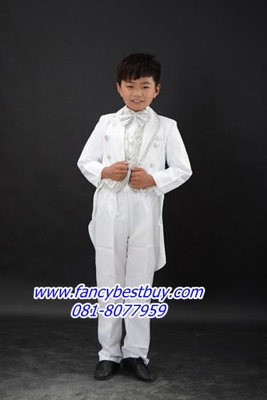 ชุดสูทเด็กชาย สำหรับออกงาน และ การแสดงดนตรี ขนาด 140 (สำหรับสูง 130-140 ซม)