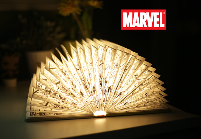 หนังสือโคมไฟ LED Marvel (ของแท้ลิขสิทธิ์)