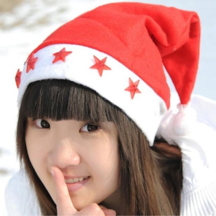 หมวกซานต้า (มีไฟ)