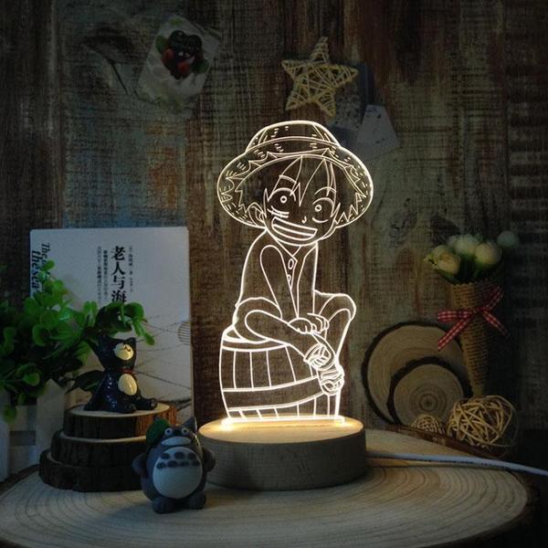 โคมไฟ 3D DIY LED Onepiece (ของแท้ลิขสิทธิ์)
