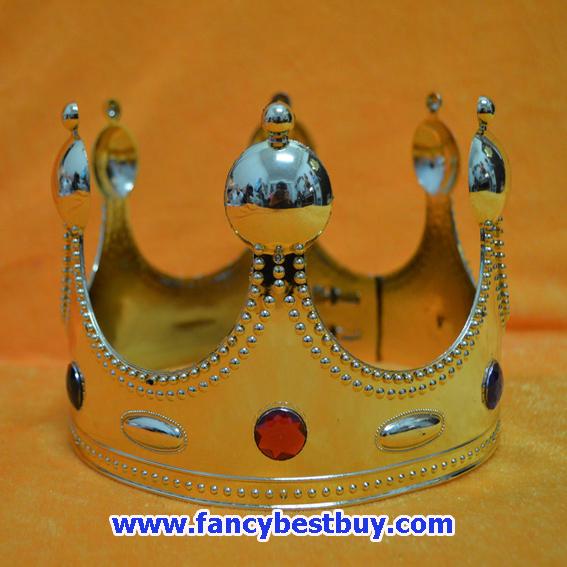 มงกุฎทองสำหรับชุดเจ้าชาย ชุดกษัตริย์ ชุดพระราชา สำหรับชุดแฟนซีเด็ก (ขายคู่กับชุดแฟนซี)