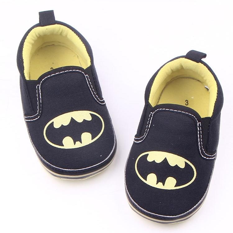 รองเท้าเด็กอ่อน 0-12เดือน รองเท้าเด็กชาย เด็กหญิง ลาย BAT MAN