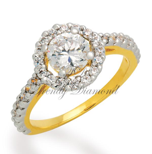 แหวนเพชร แหวน Tiffany สีทอง
