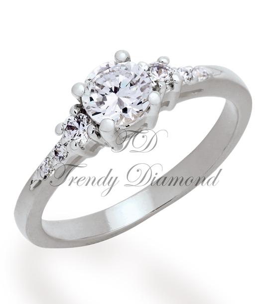 แหวนเพชร The Wedding สีทองคำขาว