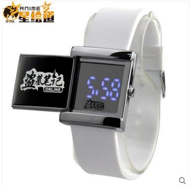 นาฬิกาข้อมือ LED บันทึกจอมโจรแห่งสุสาน (สีขาว)