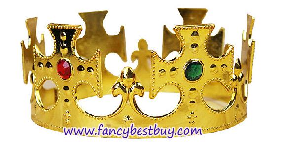 มงกุฎทองสำหรับชุดเจ้าชาย ชุดกษัตริย์ ชุดพระราชา สำหรับชุดแฟนซีเด็ก สำหรับศรีษะ 52-60 ซม. สูง 7 ซม. (ขายคู่กับชุดแฟนซี)