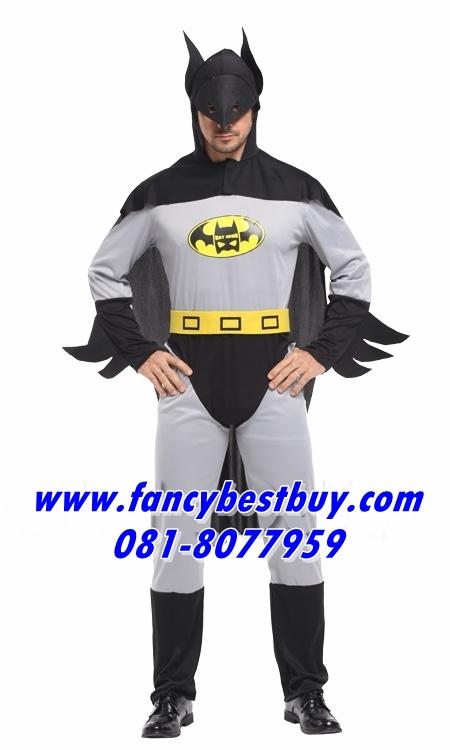 ชุดแฟนซีผู้ชาย ชุดแบทแมน Batman ขนาดฟรีไซด์ สำเนา