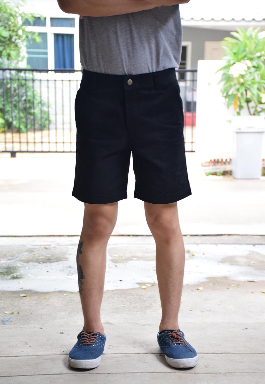 กางเกงขาสั้น สีดำ