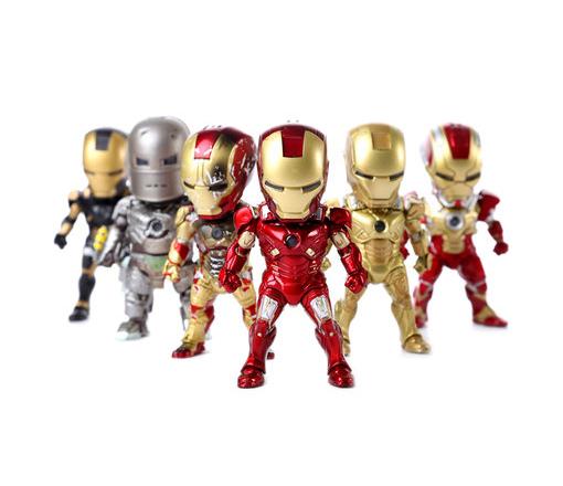 โมเดลไอรอนแมน Ironman 3(ชุดที่ 3) ในชุดมี 6 ตัว/ชุด