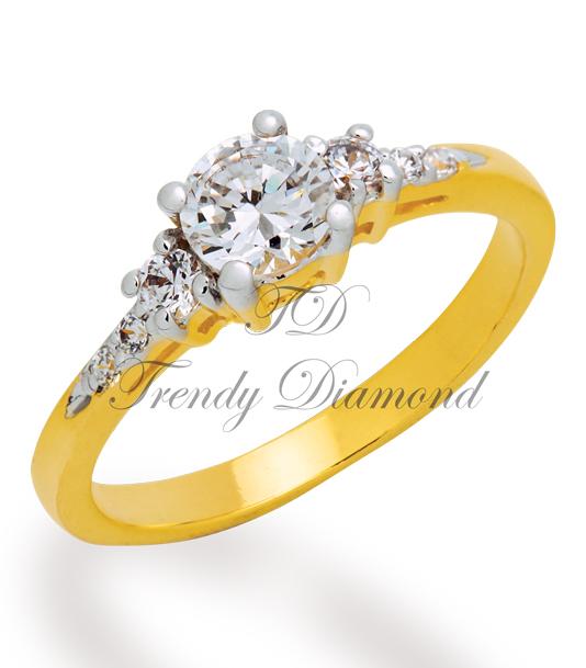 แหวนเพชร The Wedding สีทอง