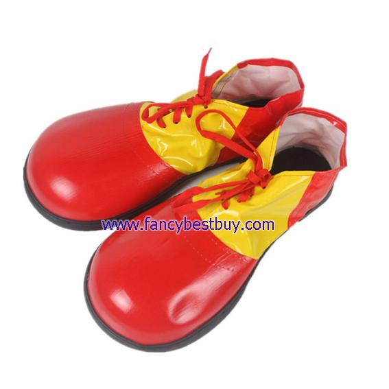 รองเท้าชุดตัวตลกผู้ใหญ่ สีแดง พื้นยางใส่ออกข้างนอกได้ สำหรับชุดตัวตลก, ชุดโบโซ่, Clown, BOSO