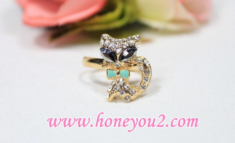 แหวน แมวเพชรตาำ