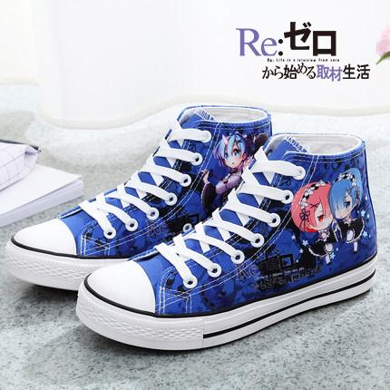 รองเท้าผ้าใบลาย Re:Zero รีเซทชีวิต ฝ่าวิกฤตต่างโลก รุ่น 2016