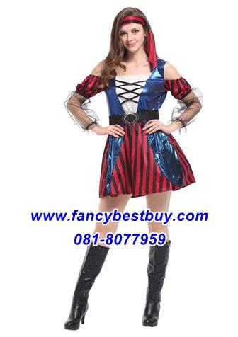 ชุดแฟนซีผู้หญิง ชุดโจรสลัดหญิงสาวสวย ขนาดฟรีไซด์