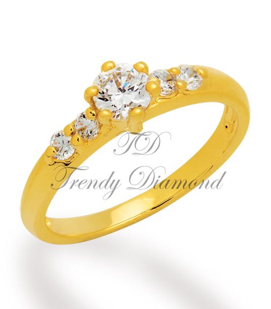 แหวนเพชรซาร่า สีทอง
