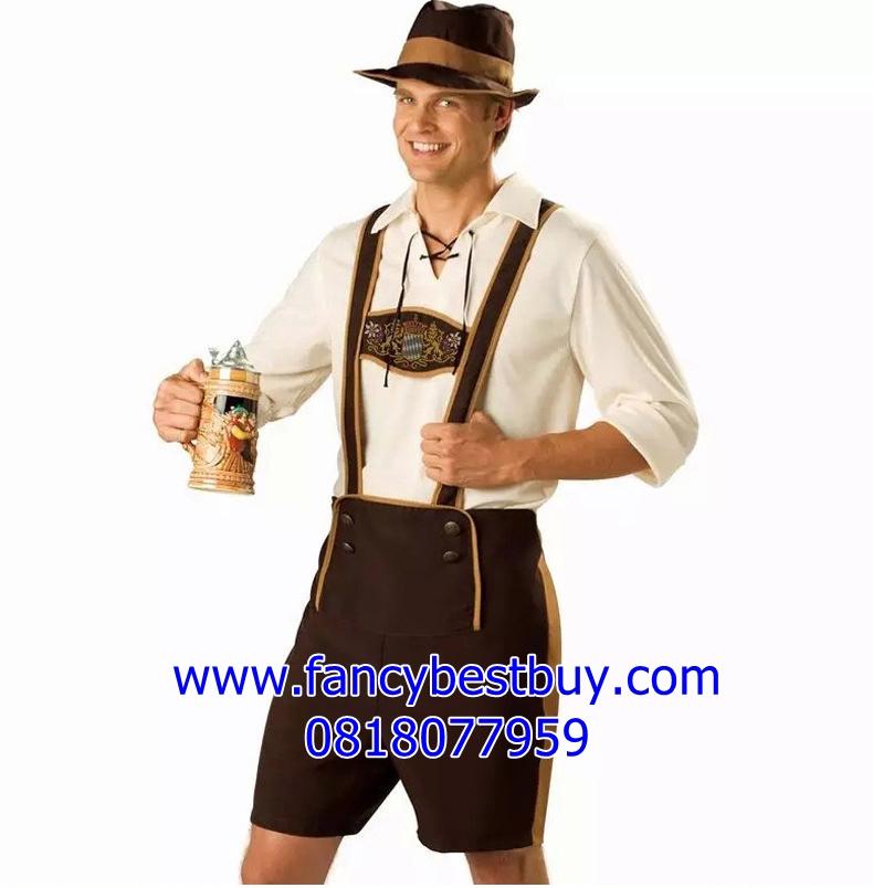 ชุดแฟนซีผู้ชาย ชุดประจำชาติเยอรมันนี ชุดบาวาเรียน ฟรีไซด์