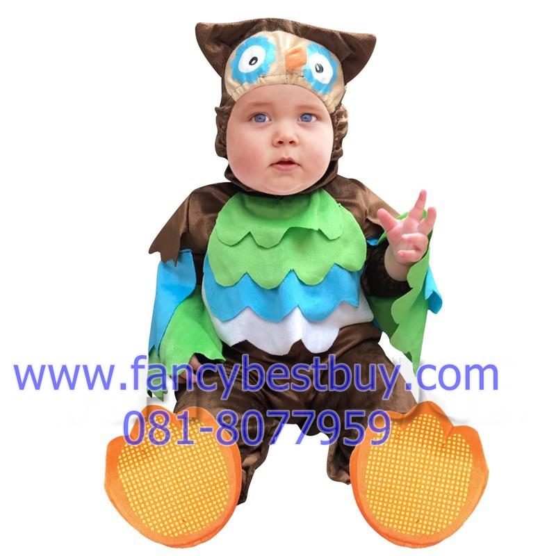 ชุดแฟนซีนกฮูก เป็นชุดแฟนซีเด็กทารกหรือเด็กเล็ก ผ้านิ่มสำหรับเด็กอ่อน ใช้ได้ทั้งเด็กชายหญิง M 70-80 cm, L 80-90 cm.