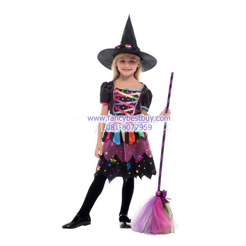ชุดแม่มดน้อยสำหรับงานแฟนซี วันฮาโลวีน Little Witch ขนาด M, L, XL
